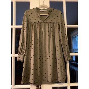 ZARA-textured babydoll tunic